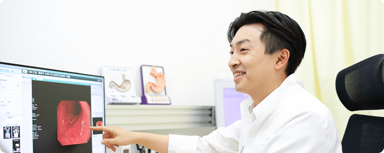 内科・消化器疾患治療の経験豊富な医師による診療